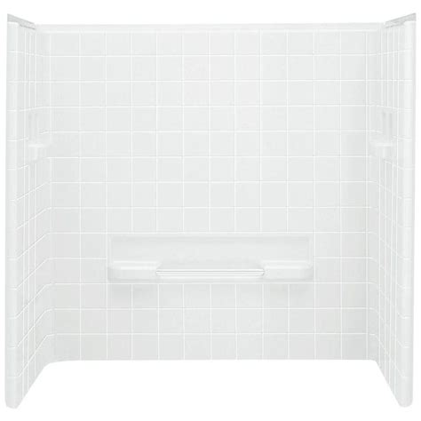 one piece bathtub wall surround sterling all pro 60 in x 31 1 2 in x 59 in 3 piece