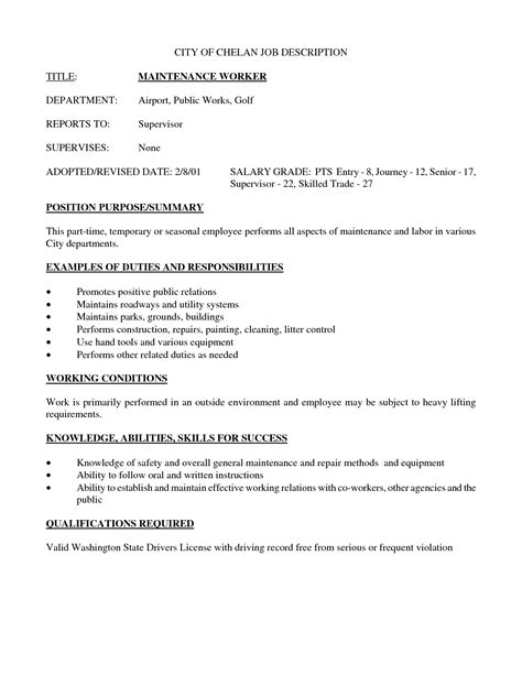 best photos of employee job description template job