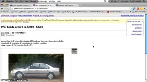 craigslist greenville sc  cars   sale