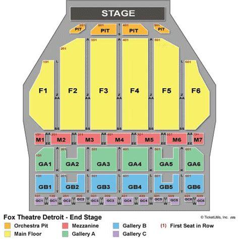 fox pomona seating chart detroit tickets