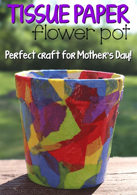 Tissue Paper Craft For - craft ideas tissue paper flowers paper format