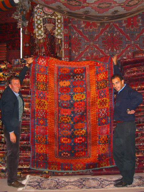 Rug Shop File Central Anatolian Rug Shop Owner And Display
