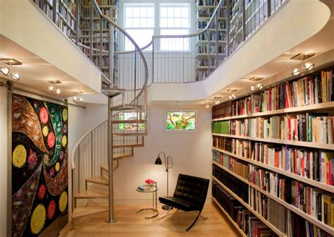 library staircase library spiral staircase home decorating trends homedit
