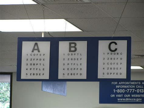 Printable Ca Dmv Eye Chart | 9 best images of motor vehicle eye test chart dmv eye