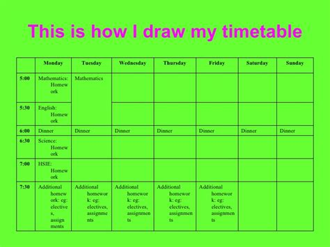 create timetable a study timetable