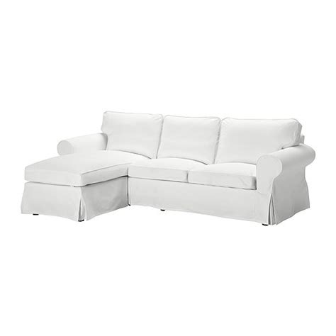 Ikea Chaise Lounge Sofa Ektorp Loveseat And Chaise Blekinge White Ikea