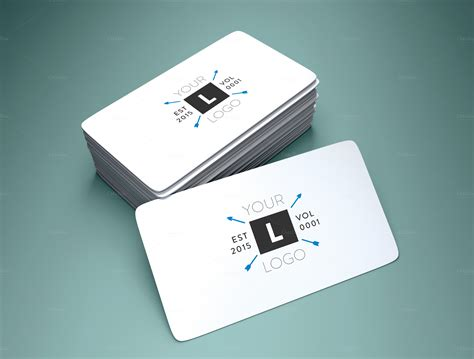 rounded corner business card mockup product mockups on