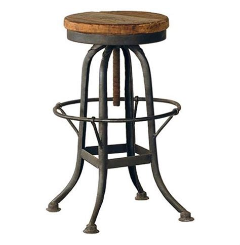 vintage steel industrial modern counter stool kathy kuo home oleg industrial loft iron base reclaimed wood bar counter