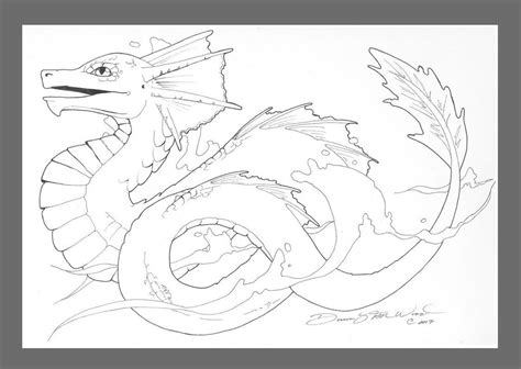 Water Dragons Coloring Pages | water dragon by dawnstarw on deviantart