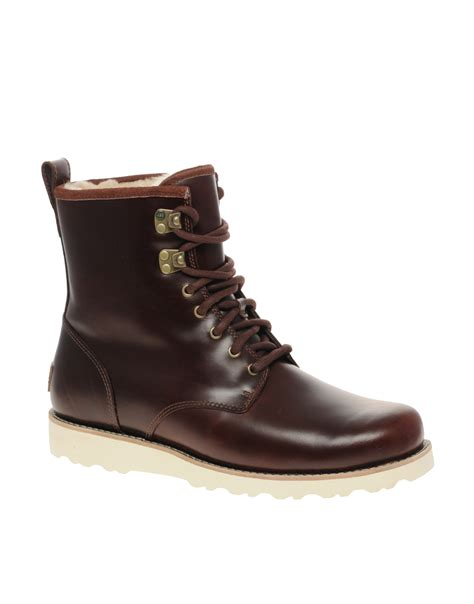 ugg boots for ugg hannen boots in for burgundy lyst