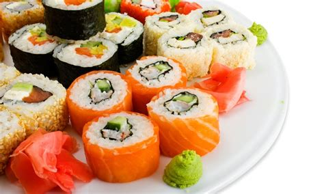 17 teilige sushi platte umai sushi groupon