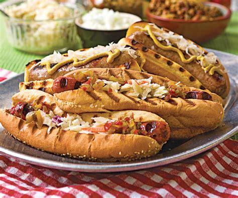 brat hot dog cheesehead brats recipe finecooking