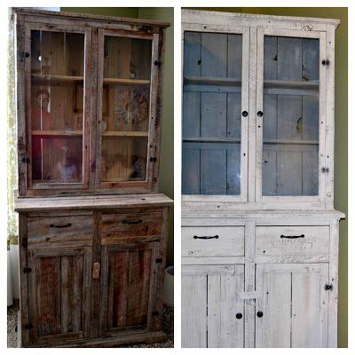 diy chalk paint hutch diy barnwood hutch makeover with sloan chalk paint