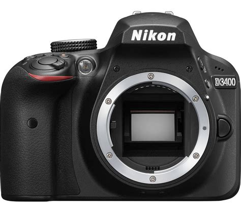 buy nikon d3400 dslr black only free delivery currys