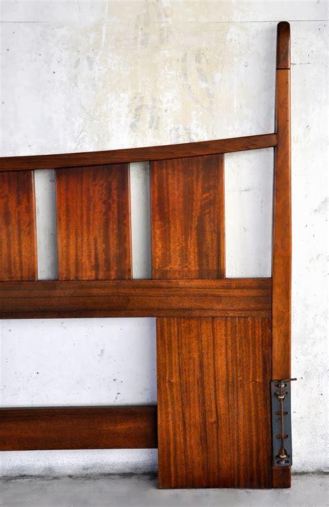 select modern mid century teak king headboard