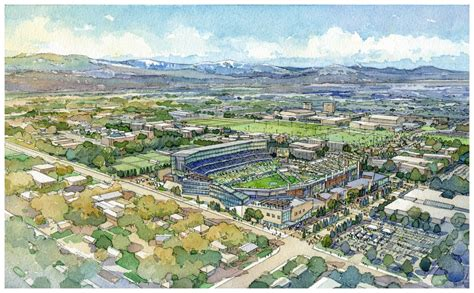 Csu Find Populous Retained For Colorado State Football Stadium Site Selection And Design