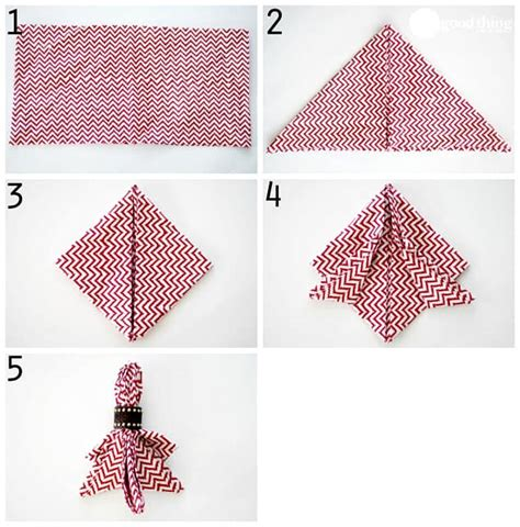 Folding Paper Napkins Easy - simple and napkin folds one thing by jillee