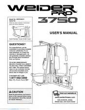 weider pro 3750 manuals