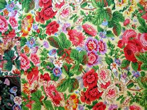 Designer Upholstery Fabric Sale Sale Designer Floral Fabric Sample Oop Flowered Chintz
