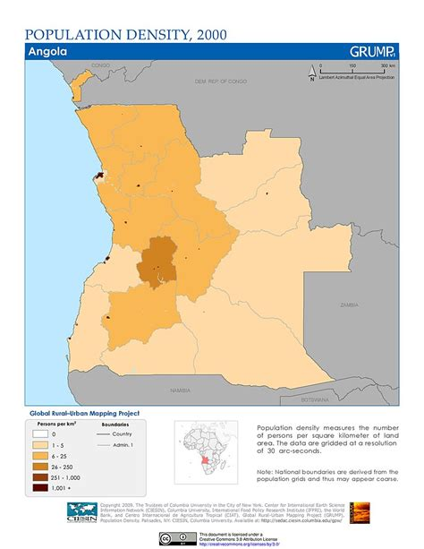 distribution map maps 187 population density grid v1 sedac