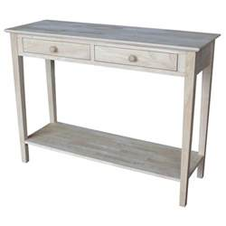 Unfinished Wood Console Table International Concepts Spencer Unfinished Storage Console Table Sv 8 The Home Depot