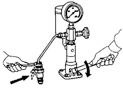 Alat Tes Tekan Pipa sheet pemeriksaan dan penyetelan nosel injektor
