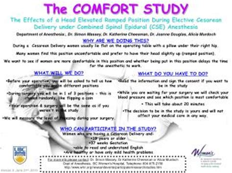 Comfort Study ppt considerations spinal epidural anesthesia