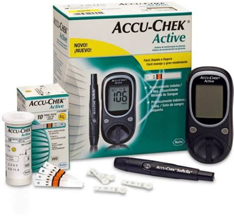 Jual Gula Darah Accu Chek Active accu check active glucose monitor with 10 strips glucometer price in india buy accu check