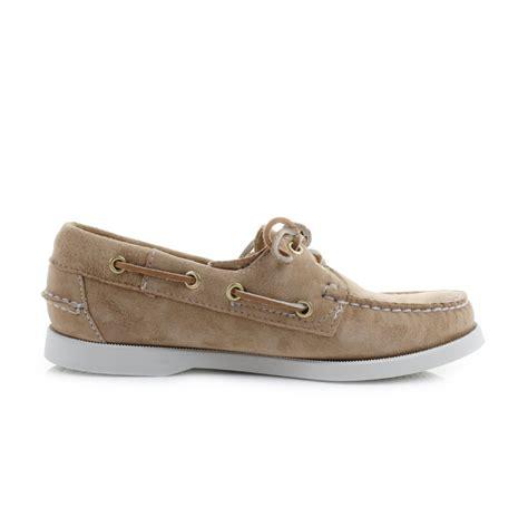 deck slippers womens sebago dockside sand suede leather boat deck shoes