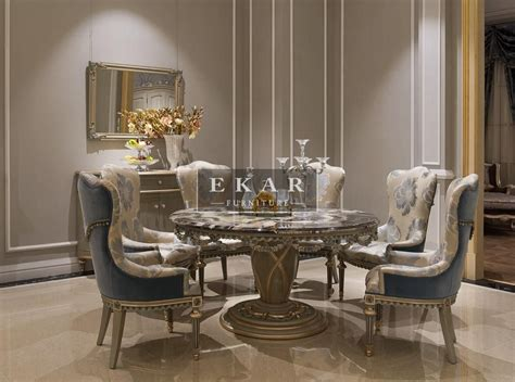 luxury dining and chairs ekar furniture round marble dining luxury