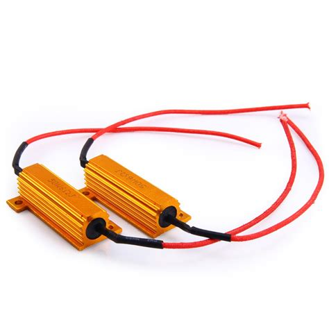 motorcycle led light resistor 2pcs 12v 50w motorcycle led turn signal canbus error resistor flash controller ebay