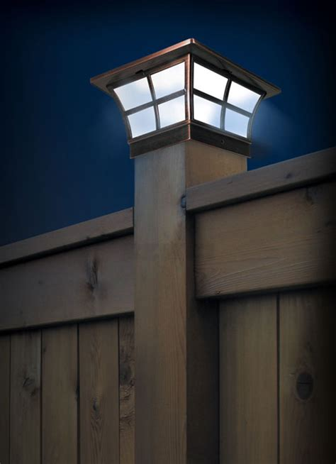 Outdoor Solar Lighting Solar Fence Post Caps