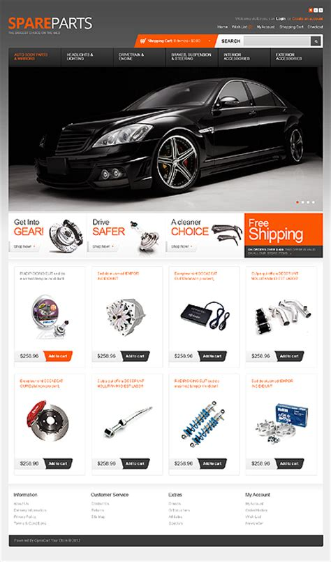 Auto Spare Parts Website Template Free Internet World 2012 Auto Spare Parts Website Template Download Free Now