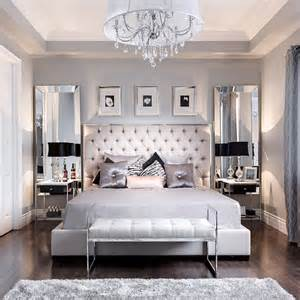 beautiful bedroom decor tufted grey headboard mirrored smart solutions small apartments