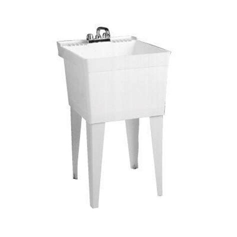 23 in x 21 in laundry tub white fl 1 the home depot