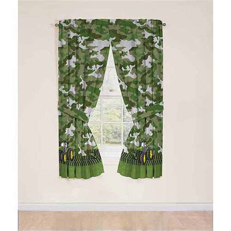 john deere curtains john deere drapery curtain panel set of 2 walmart com