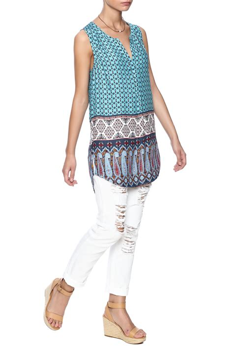 Print Sleeveless Tunic daniel rainn print sleeveless tunic from arizona by