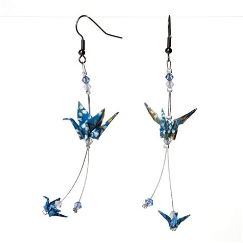 Origami Crane Earrings - origami crane earrings by walking cripple on deviantart