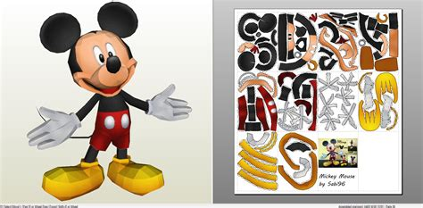 Disney Papercraft - mouse paper craft choice image craft decoration ideas
