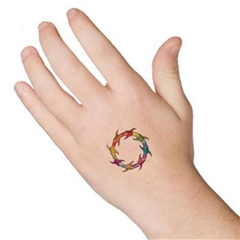 temporary nipple tattoos rainbow barbed wire ring tattooforaweek temporary