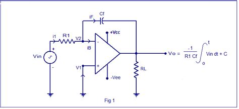 integrator circuit formula integrator circuit using op op integrator design derivation for output voltage waveforms