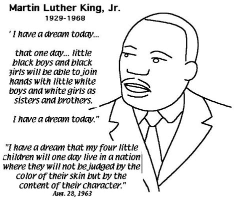 printable coloring page of martin luther king jr martin luther king jr free coloring pages printable