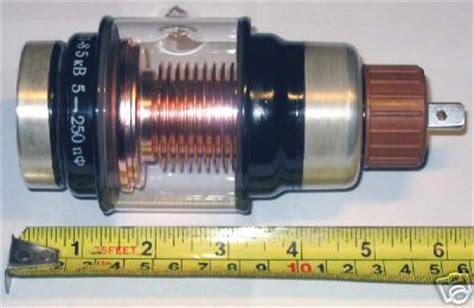 vacuum variable capacitor 5 250 pf 5 kv nos
