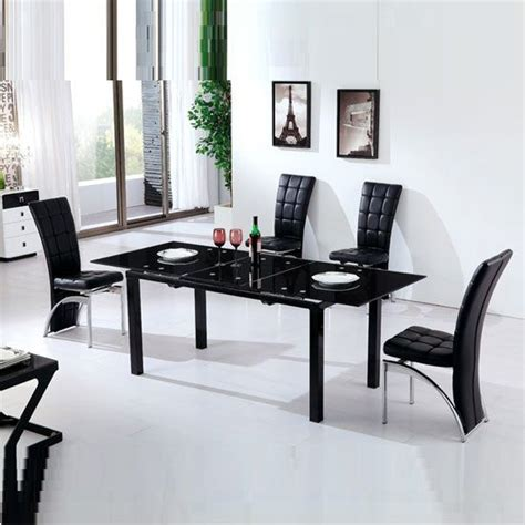 Extendable Glass Dining Table Set Extendable Glass Dining Table Set Sl Interior Design