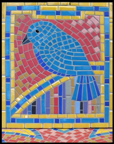 How To Make A Mosaic L by Birds Feathers Mosaics On Mosaic Birds