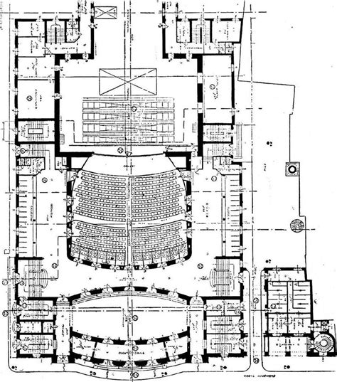 theater floor plan file f fellner and h helmer design theatre the hague