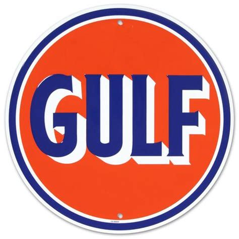 gulf logo gulf oil gasoline logo round tin sign at allposters com
