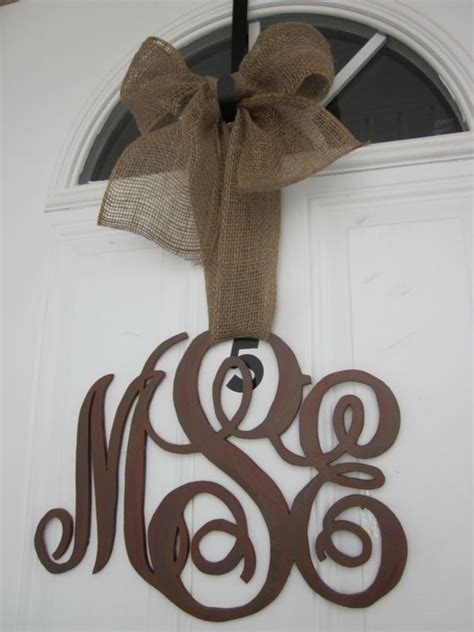 Initial Decor by Family Initial Monogram Door Decor By Carolinamooncrafts