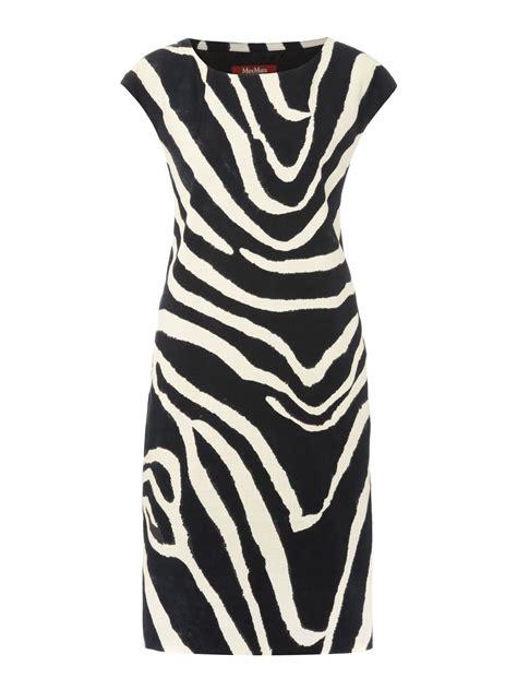 zebra design clothes max mara studio gaspere zebra print dress lyst