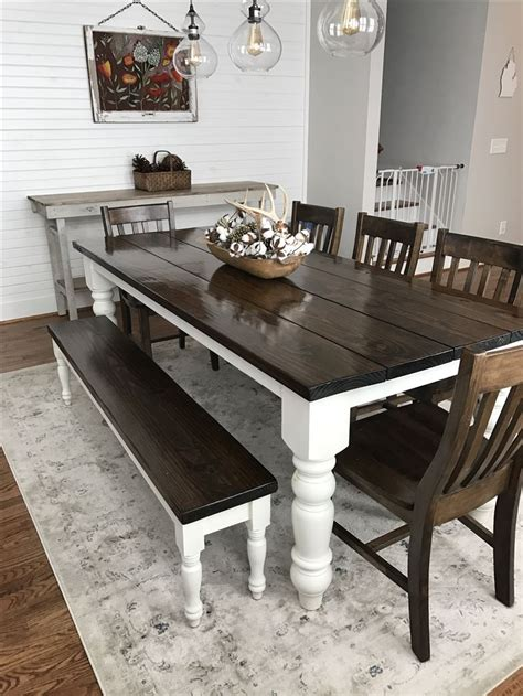 bench style kitchen tables 25 best ideas about farmhouse table chairs on pinterest
